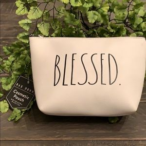 🎀🆕Rae Dunn BLESSED Cosmetic Bag